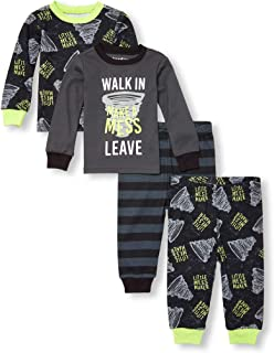 The Children's Place Baby Boys 4 Piece Long Sleeve Pajama Set