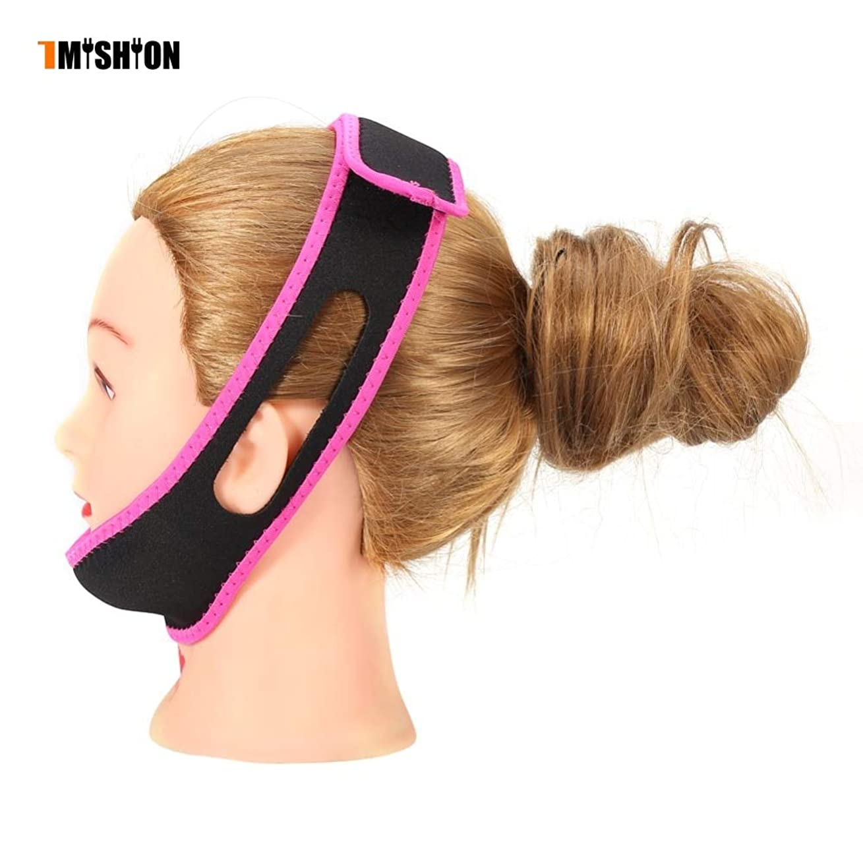 飲食店持つ満了NOTE TMISHION 7色アンチいびきベルト男性女性睡眠マスクアンチいびきベルトいびき止めヘッドバンドチンジョーサポートストラップ