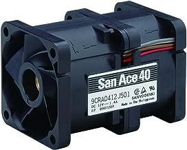 9CRA0412J501-Axial Fan, San Ace 40 Series, 12 V, DC, 40 mm, 56 mm, 62 DBA, 31.8 cu.ft/Min