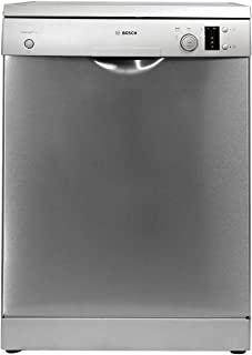 Bosch 12 Place settings 5 Programs Free standing Dishwasher, Silver - SMS50D08GC, 1 Year Warranty
