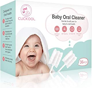 Baby Toothbrush, Infant Toothbrush Clean Baby Gums Disposable Tongue Cleaner Gauze Toothbrush Infant Oral Cleaning Stick D...