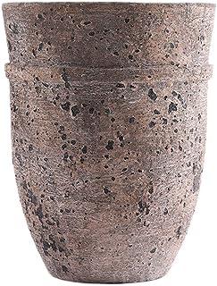 Little Green House Brown Ceramic Decorative Vase - Medium