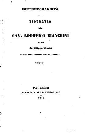 Biografia del cav. Lodovico Bianchini