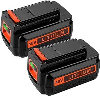 Paquete de 2 baterías de repuesto para batería de litio Black and Decker 40V MAX LBXR36 LBX2040 LBX2036 LBX2540 LBX2540 LBX1540 LST540 LCS1240 LST136W de 3.0Ah