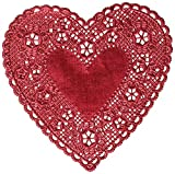 Hygloss Products Heart Doilies - 6 Inch Red Foil Doily for Crafts, Table Settings Made in USA, 18 Pack (26529)
