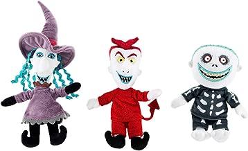 Triple Threat Nightmare Before Christmas Lock, Shock & Barrel Plush Doll Set Halloweentown Stuffed Character Pack 3 Items