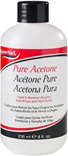 Super Nail Pure Acetone Polish Remover, 8 oz (Pack of 6)