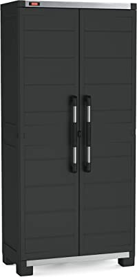 Keter Garage Armario 3 baldas, Negro, XL Alto