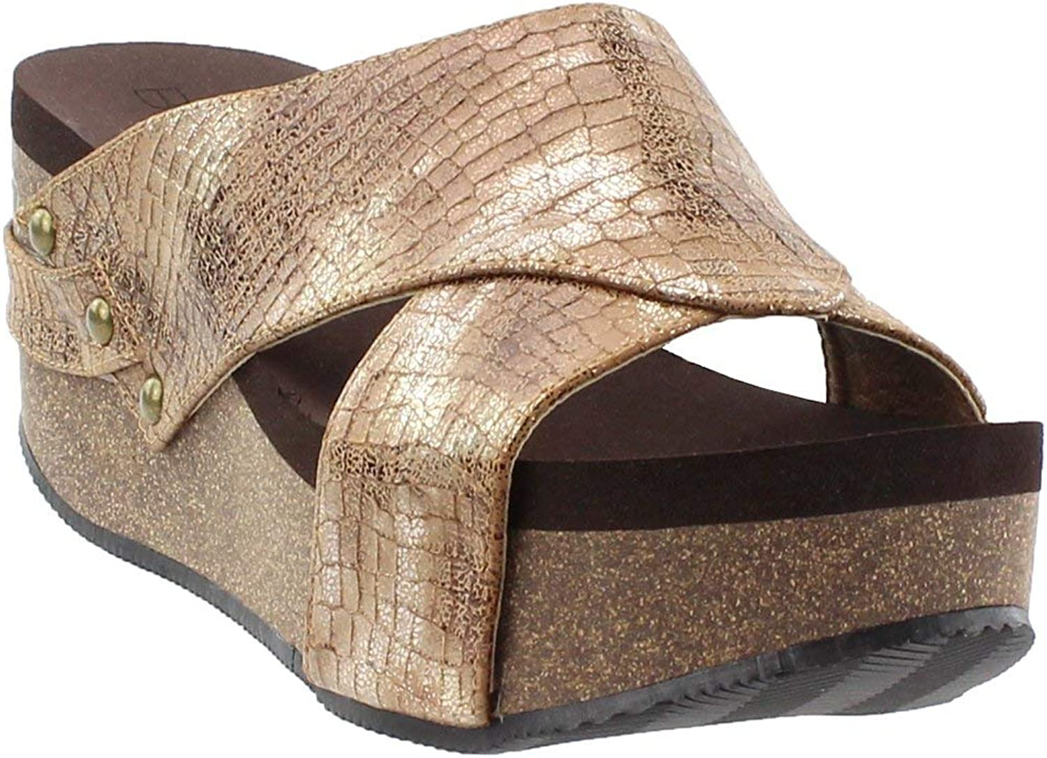 Corkys Womens Greenfield Sandals gold