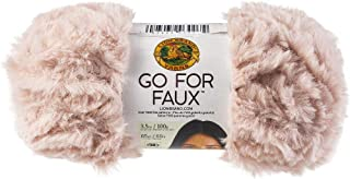 Lion Brand Yarn Go for Faux Yarn-Pink Poodle