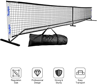 Pickleball Net, Portable Pickleball Net Sets With Large Carry Case, Wind & Dirty Resistant Pickleball Net For Durable Using Professional Pickleball Net System Includes Metal Frame & Net in Carry Bag