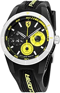 Ferrari 830257 'Red Rev T Multi' Quartz Resin and Silicone Watch, Analog Display