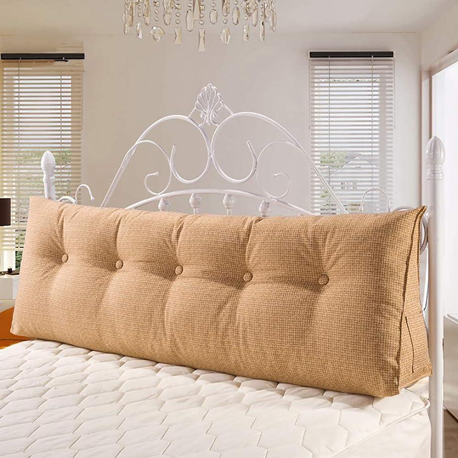 ピクニックをするメーカーネックレス三角 三角枕, 大 ボルスター ヘッドボード 背もたれ 位置決め サポート 読書用クッション, リネン クッション の ベッド 二段ベッド ソファ-a