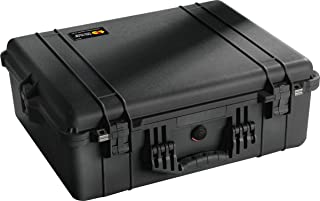 Pelican 1600 Case With Padded Dividers (Black)