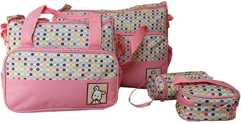 Multi Function Waterproof Mummy Bag Five Piece Suit Pending Bag Portable Diagonal Bag Baby Item Bag Travel and Leisure Nylon Waterproof Bag