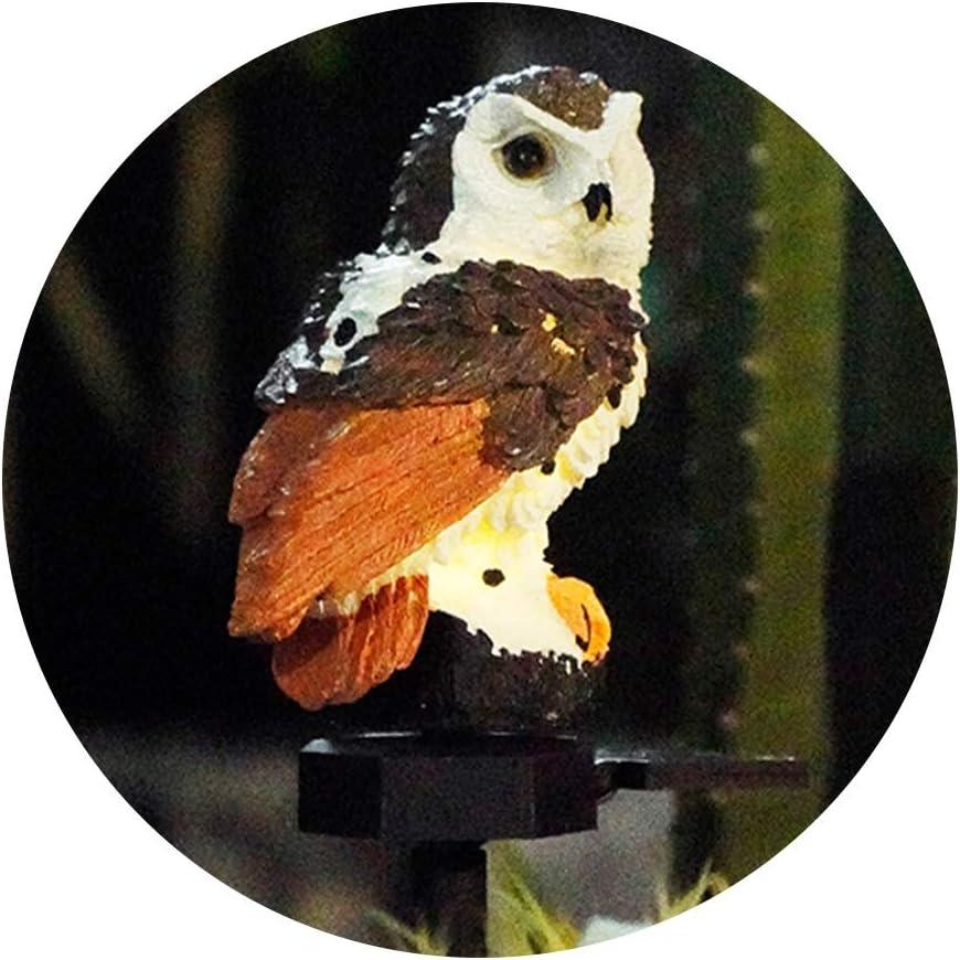 Figurine Lights Outdoor Al sold out. Owl 5 popular Solar Resin Decorat Light Garden