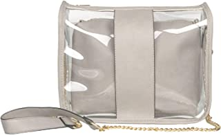 Clear Crossbody Stadium Bag for Women,Sidelines Clear Purse PVC Transparent shoulder Bag for Stadium Approved