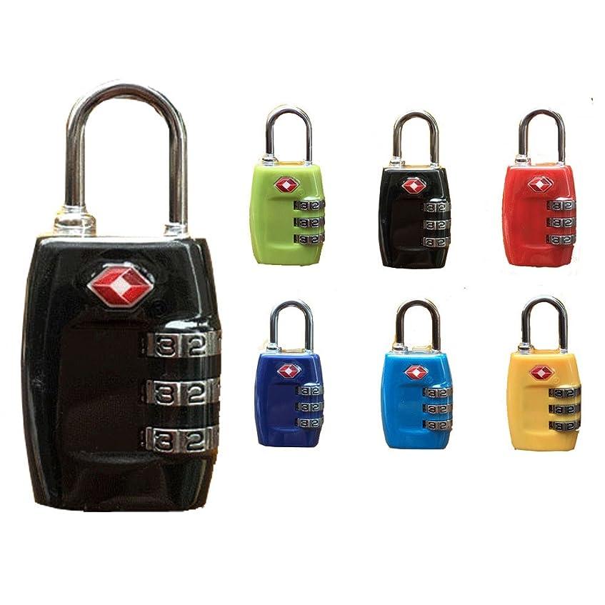 枠寛容なカエルTSA承認ダイヤルロック1個。 旅行用セキュリティ荷物コンビネーション南京錠。 ランダムカラー。