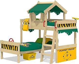 WICKEY lit pour enfant 'CrAzY Jungle' design Safari - Lit superposé en plusieurs combinaisons de couleurs - 90x200 cm