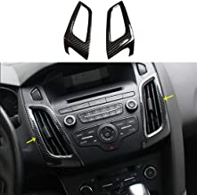ruihe 2PC Carbon Fiber Color ABS Interior Dashboard Air Conditioner Vent Trim for Ford Focus RS ST MK3 2012-2018