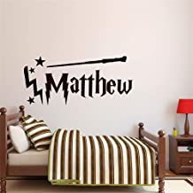 Vinyl Wall Decal Quote Stickers Home Decoration Wall Art Mural Harry Potter Wand Custom Name Colour Decal Decor Nursery Sale