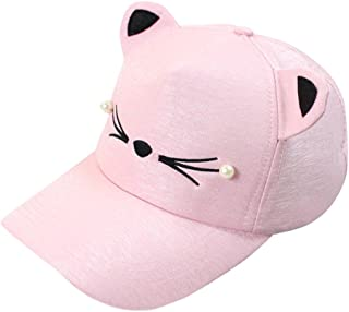 LENXH Women's Cap Fashion Sun Hat Wild Baseball Cap Cute Student Hat Cat Sun Hat Solid Color Cap