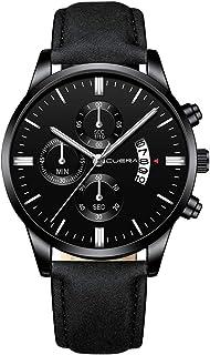 Uhren Herren Sale,IFOUNDYOU Armbanduhren Männer Mode Militär Edelstahl Analoges Datum Sport Quarz Armbanduhr Lederarmband ...