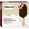 Haagen-Dazs, Chocolate Dark Chocolate Ice Cream Bars, Pack of 3, 3 oz (Frozen)