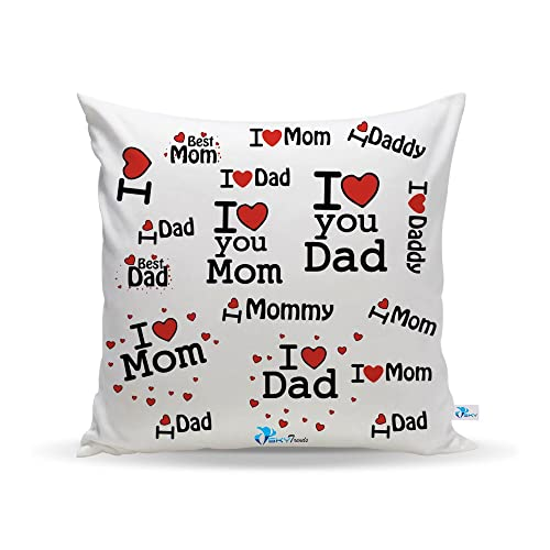 Sky Trends Gift for Perents Printed Cushion Cover Best Gift for Dad and Mom