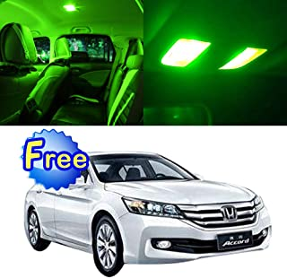 SCITOO LED Interior Lights 8pcs Green Package Kit Accessories Replacement for Honda Accord 2003-2012