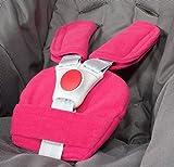 ByBUM® - Protectores para arnés o cinturón de seguridad - Aptos para portabebés, cochecitos, sillas de seguridad (p. ej. Maxi Cosi City SPS, Cabrio, Cybex Aton, etc.; disponibles en muchos colores; FABRICADOS EN LA UNIÓN EUROPEA, Color:Fucsia