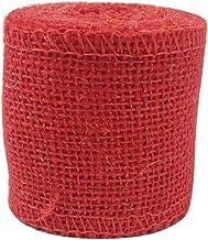 6 cm Diameter Color Linen Roll Kindergarten DIY Linen String/6.5 ft-Red