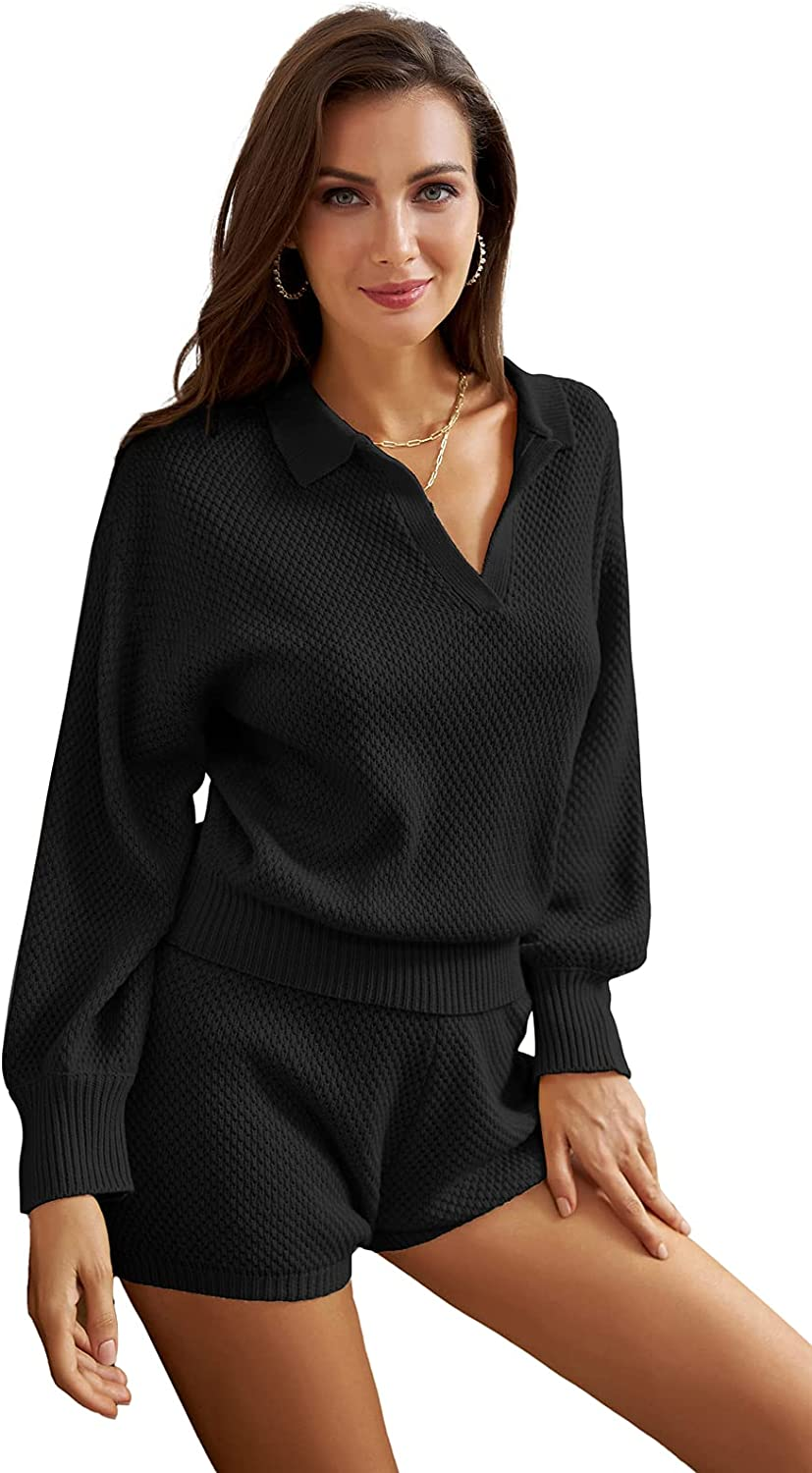 GRACE Ranking TOP19 KARIN Spasm price Women's 2 Piece Outfits Sets Lapel Collar Lo Sweater