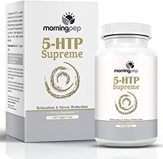 5-HTP Supreme 120 Vegetarian Caps, is A Custom Formulated Natural Relaxation Sleep Aid Support Supplement, Promoting Healt...