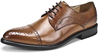 Fashion Carved Oxford Shoes Formal Shoes (Color : Brown, Size : 39)