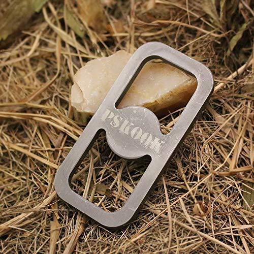 PSKOOK Flint y Pocket Bellow Steel Striker Kit Primitive Fire Starter Inglés Flint Stone...