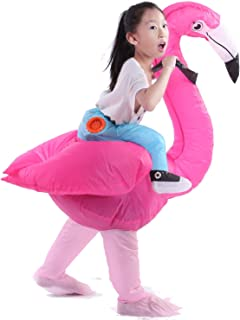 Staryard Inflatable Flamingo Costume Pink Strap Costume for Halloween Kids and Adult
