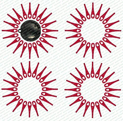 80 Ersatzmesser, Messer, Schneidplättchen, Kunststoffmesser mit Schneidscheibe, passend für Akku Rasentrimmer FRTA 20 A1 - LIDL IAN 282271