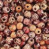 YUEAON 卸売 200個 10mm 天然 塗装 木製ビーズ 丸型 大量ボール ジュエリー 工芸 ヘア DIY マクラメ ロザリオ ブレスレット ネックレス ミックスカラー