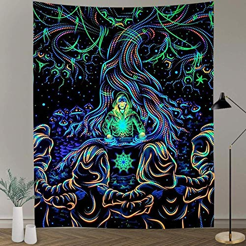 Simsant Underwater World Tapiz Océano Azul Peces tropicales Coral Art Tapiz de pared, sala de estar, hogar, decoración de dormitorio