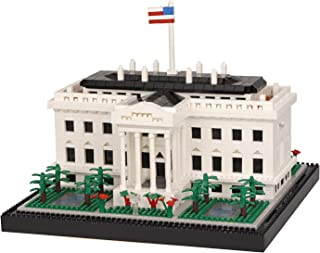 Geniteen Building Block Set, Architecture White House Micro Mini Blocks 2300 PCS Building Blocks Model Toys, Gift for Adul...
