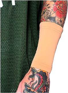 "Tat2X Ink Armor Premium Forearm 6"" Tattoo Cover Up Sleeve - No Slip Gripper - U.S. Made - Light - ML (Single Tattoo Cover ..."
