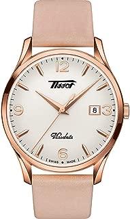 Tissot Heritage Visodate Quartz Rose Gold Leather Watch T118.410.36.277.01