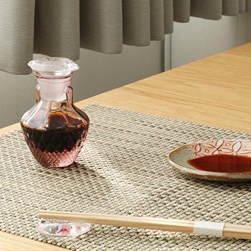 アデリア調味料入れ醤油差し豆しょうゆアメジスト65mlクリスタルガラス製日本製F-71645