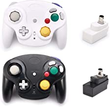 $44 » Poulep Classic 2.4G Wireless Controller Gamepad with Receiver Adapter, Compatible with for Wii Gamecube NGC GC(Black and W...