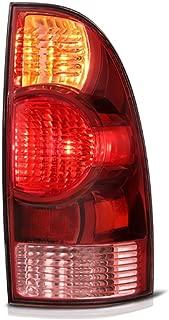 VIPMOTOZ Red Lens OE-Style Tail Light Lamp Assembly For 2005-2008 Toyota Tacoma Pickup Truck, Passenger Side