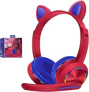 Casque Bluetooth à oreilles de chat avec micro et suppression du bruit sans fil mains libres pour enfants garçons filles –...