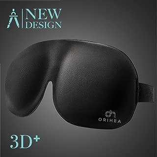 OriHea 3D Plus Large Eye Mask Sleeping Mask Sleep Mask for Men & Women & More Room for Eyes, Blindfold, Tighter fit on Your Nose