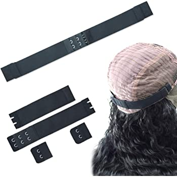 Black, 28mm Width Xtrend 5Pcs Adjustable Elastic Band With Hooks for Wigs//Lace Closure//Bra//Lace Frontal Sewing Band Black Wig Grips 1.1 Inch Width