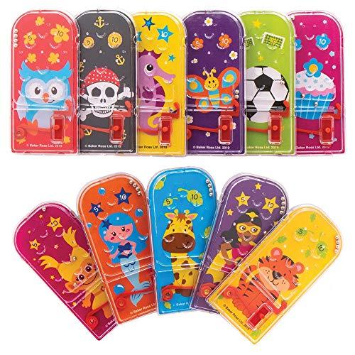 Baker Ross Juegos de Pinball Paquete de Ahorro AT907 (paquete de 15) para bolsos de fiesta y pequeños juguetes para niños